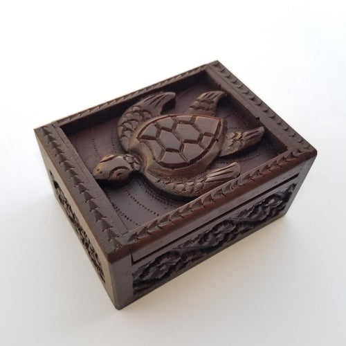 Turtle Wooden Carved Box