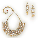 Gold Tone plated Mirror Kundan Necklace Set