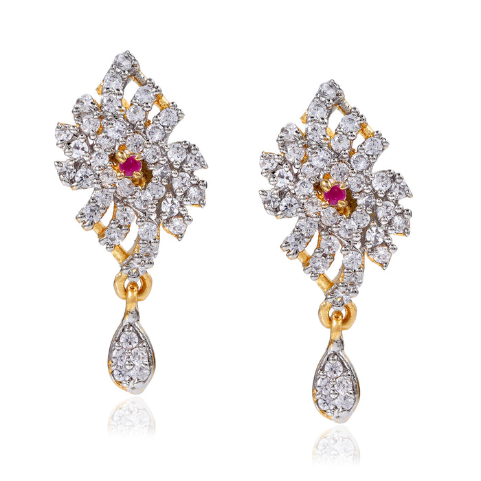 AD Crystal Traditional Wear Earrings