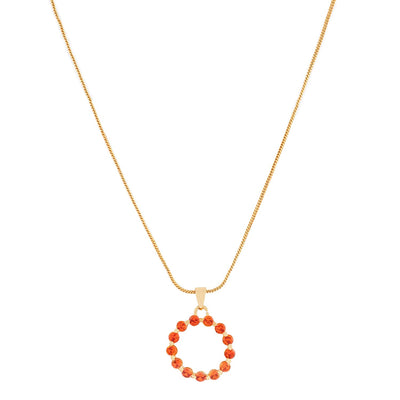 Trendy Candy Pendant  with fancy Orange crystals Stones