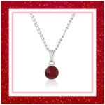 ESTELE SIAM SWAROVSKI BIRTHSTONE PENDANT NECKLACE FOR WOMEN