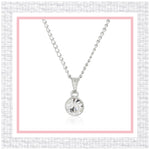 ESTELE WHITE DIAMOND SWAROVSKI BIRTHSTONE PENDANT NECKLACE FOR WOMEN