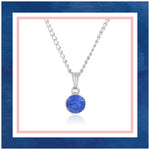 ESTELE  SAPPHIRE SWAROVSKI BIRTHSTONE PENDANT NECKLACE FOR WOMEN