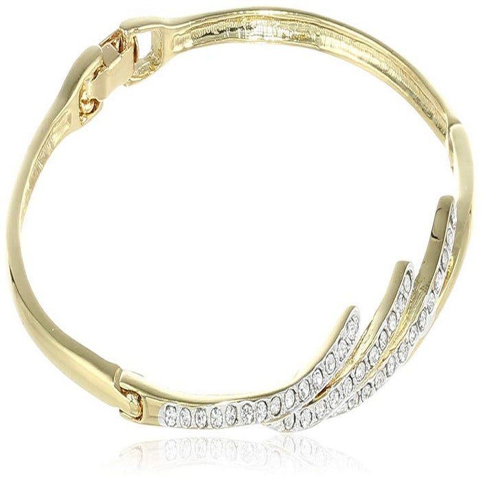 Estele - gold  plated 3 Strike Designer Diamond Bracelet for Women