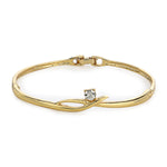 White Crystal Stone Bangle Bracelet For Womens