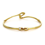Gold Plated Crystal Stone Womens Bangle Bracelet