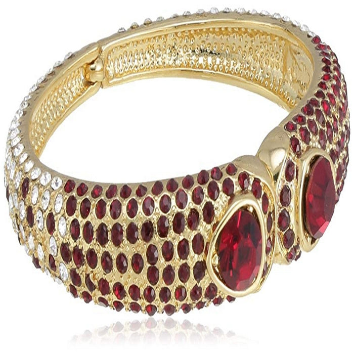 Estele Gold Plated Red Glory Cuff Bracelet for women