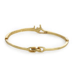 Gold Plated White Stone Bangle Bracelet For Womens