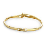 Gold Plated White Stone Kaada Bracelet For Women