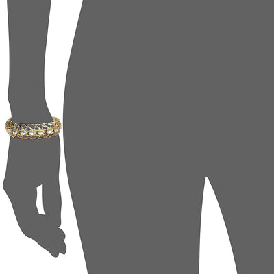 Estele  Gold Plated Kundan Cuff Bracelet for Women