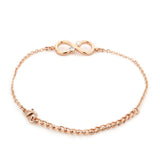 Estele Infinity Rose gold Bracelet Using Swarovski Stones