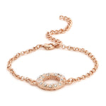 Halo Rose Gold Bracelet