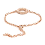 Halo Rose Gold Bracelet Using Swarovski Stones