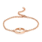 Polaris Rose Gold Bracelet Using Swarovski Stones