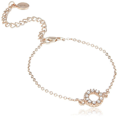 Estele  Rose Gold Plated Halo Chain Bracelet for women