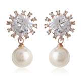 Pearl Drop AD stone Earrings