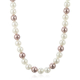 White and Gold Colour Pearl Necklace