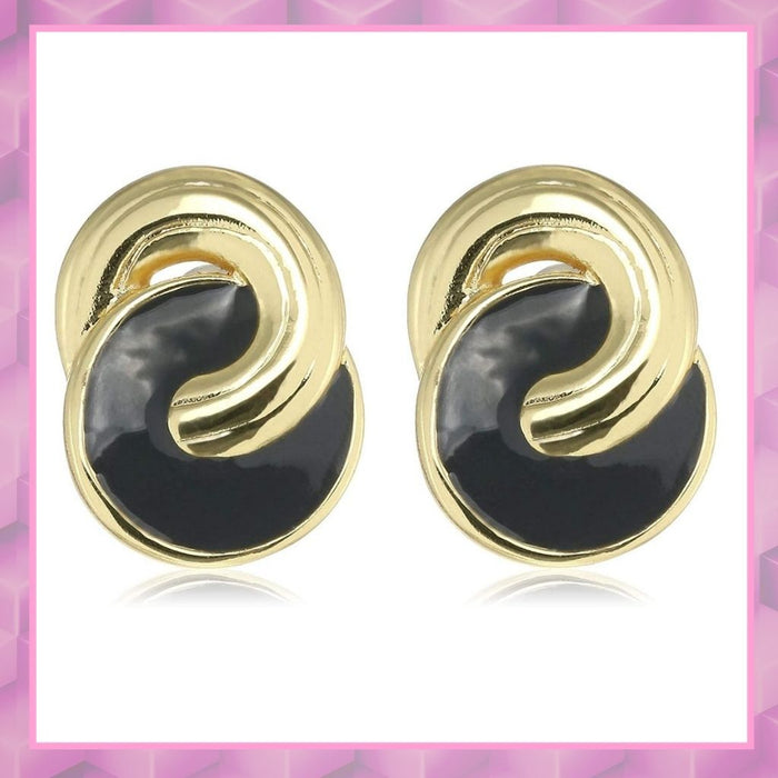 Estele black colour Design mosaic Studs for women