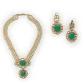 Estele Pearl With Mirror Kundan Long Haar  necklace set for women