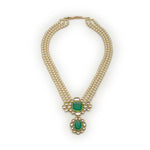 Pearl With Mirror Kundan Long Haar