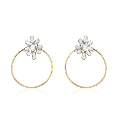 Aiyna Flower Hoop Earrings