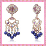 Estele white and multi fancy earrings for trendy and fashionable women