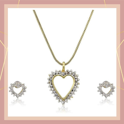 Estele - Valentine special - Trendy and Fancy Fashion Jewellery Design Necklace Set for Women