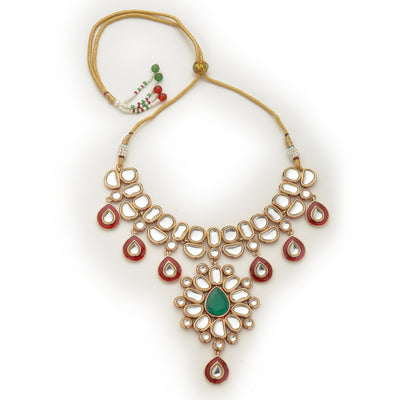 Polki collection Kundan Pearl Necklace Set