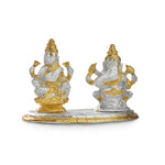 Godess Laxmi & Lord Ganesh Idol in Gold & Silver plating