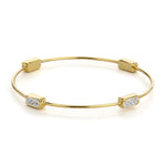 Gold Plated White Austrian Crystal Stone Womens Bracelet