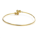 Gold Plated White Stone Bracelet For Womens