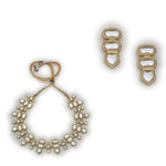 Polki Look Neutral Designer Jewelry Necklace Set
