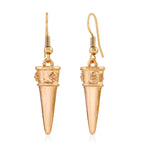 Western Statement Style Gold Toned Drop Earrings