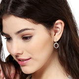 Red Colour Hoop Earrings For Womens