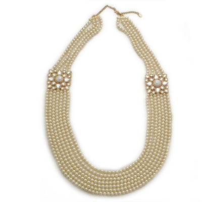 Latest White Pearl Necklace For Women