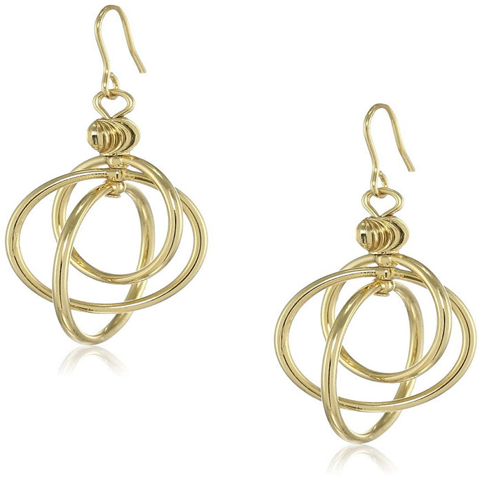 Estele  Gold Plated Hoop glory Dangle Earrings for women