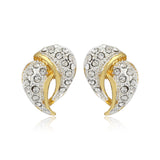 Two Tone Plated Fashion Stud Earrings
