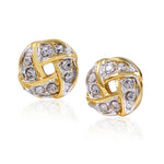 Round Austrian Crystal Stud earrings