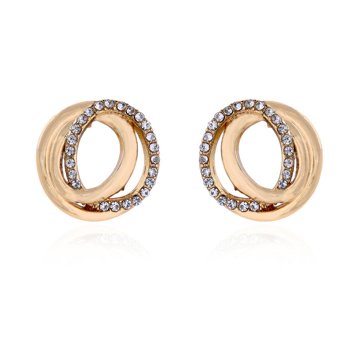 Geometric Circle Stud Earrings