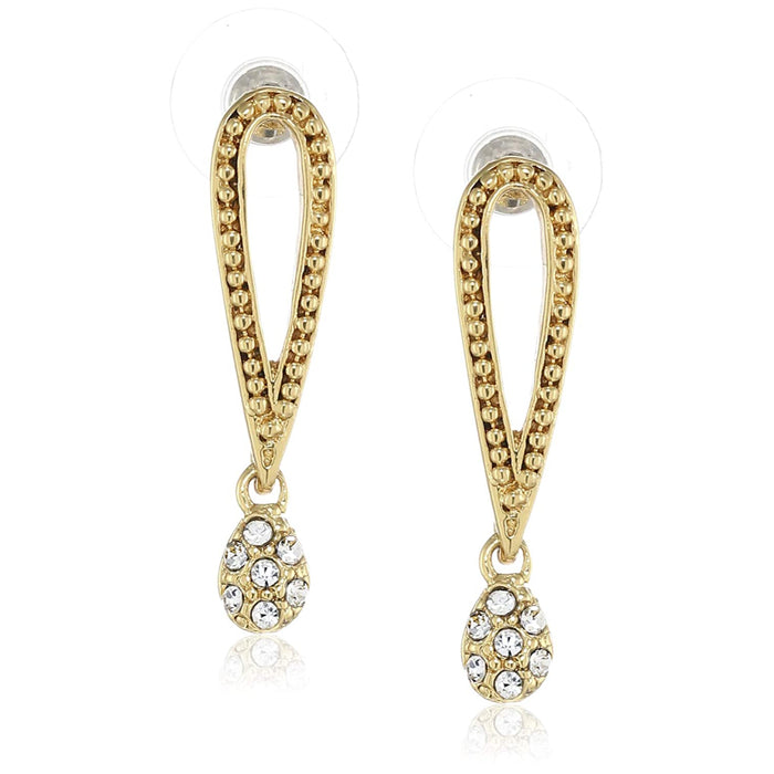 Estele  Gold Plated Exclamation Drop Earrings for women