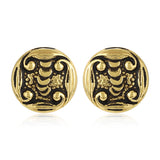 Womens Round Stud Earrings