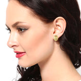 Ovel Shaped Stud Earrings