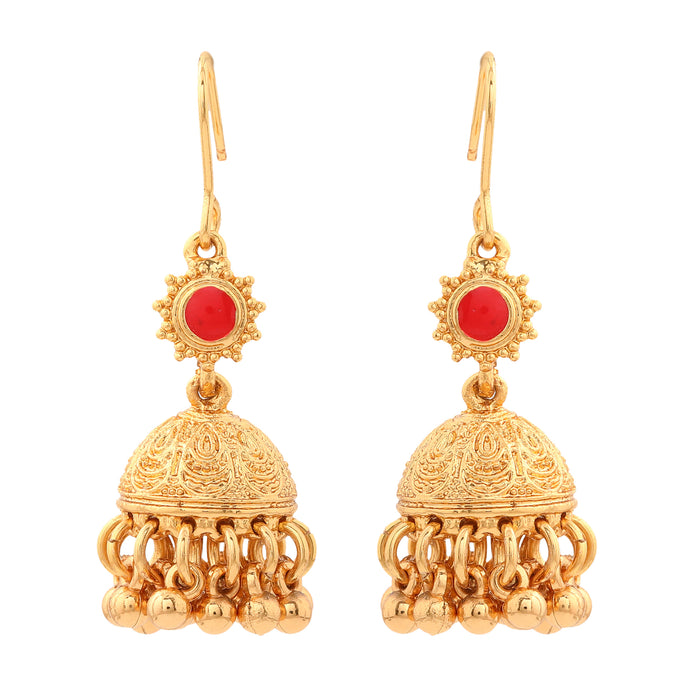 Ethnic Traditional Gold Plated Fancy Earrings