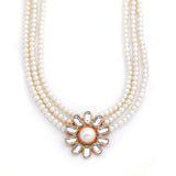 Polki Collection Neutral Designer Pearl Jewelry Necklace