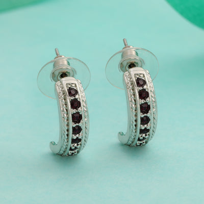 Trendy Candy Stud Earring with fancy Red crystals for Women