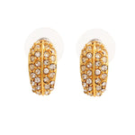 24Kt Gold Plated Candy Earring with White Crystals