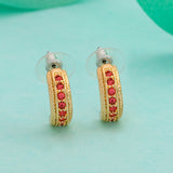 Candy Crystal Collection Gold Plated Orange Crystal Stud Earring