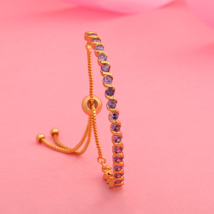 Candy Bracelet with Blue American Diamonds Bracelet