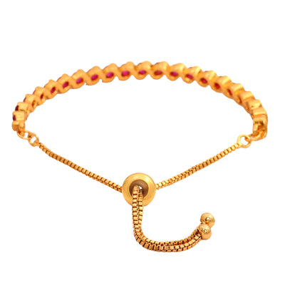Candy Crystal Collection Gold Plated Bracelet