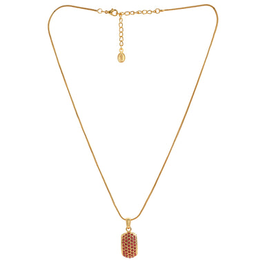 Trendy Gold Plated Candy Pendant with Fancy Orange Austrian Diamond Crystals